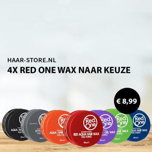 4 x Red One Haarwax Naar Keuze