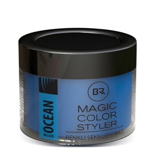Color Hair Wax Ocean Blue – Black & Red