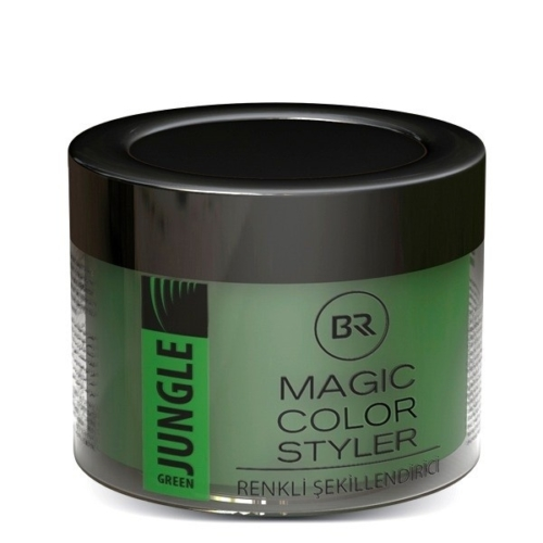 Color Hair Wax Jungle Green – Black & Red