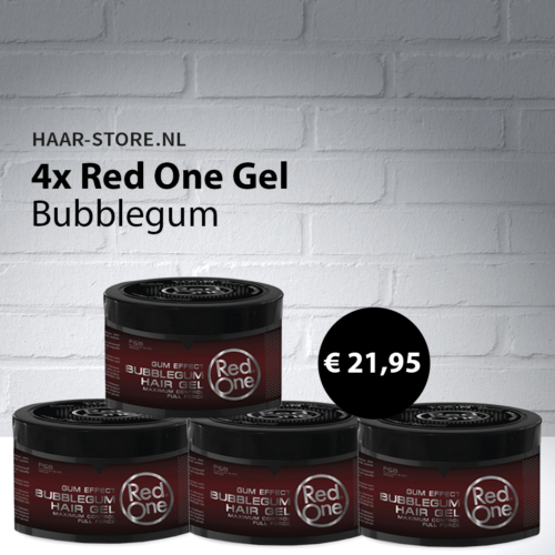 4x Red One Haargel Bubblegum