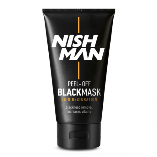 PEEL-OFF MASK NISH MAN BLACK, GOLD EN SILVER
