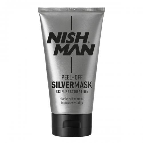 PEEL-OFF MASK NISH MAN BLACK, GOLD EN SILVER