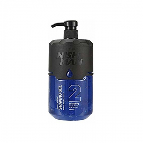 NISH MAN SCHEERGEL BLUE/SILVER 1000 ML