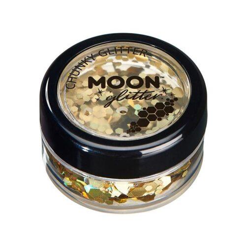 Creations Glitter grote glittervlokken Moon goud