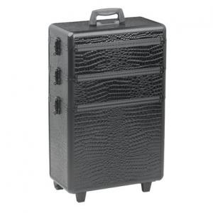 Sibel Trolley Koffer Zwart Kroko