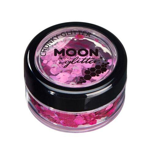 Creations Glitter grote glittervlokken Moon roze