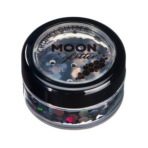 Creations Glitter Chunky glittervlokken Moon zilver