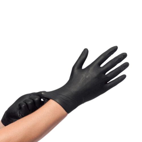 Nitril Zwart Wegwerphandschoenen S (Poedervrij)