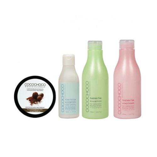 SET COCOCHOCO Original Brazilian Keratin 100ml + Clarifying Shampoo 150ml + After care Kit 400ml COCOCHOCO
