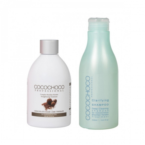 Original Brazilian Keratin 250ml + Clarifying Shampoo 400ml COCOCHOCO