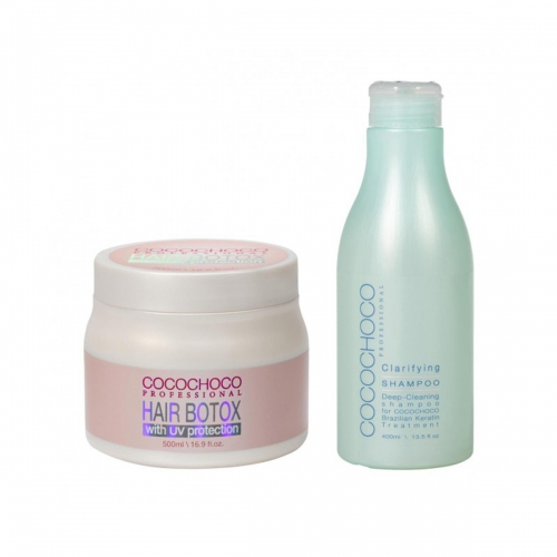 SET Hair botox 500ml + Clarifying Shampoo 400ml COCOCHOCO