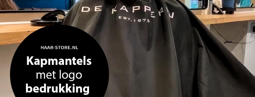 Kapmantel bedrukken met logo