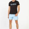 T-Shirt COLODOS Zwart & Baby Blauw