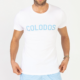 T-Shirt COLODOS Wit Baby Blauw