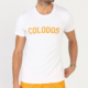 T-Shirt COLODOS Wit Oranje
